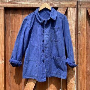 Vintage French Chore Coat Worker's Jacket